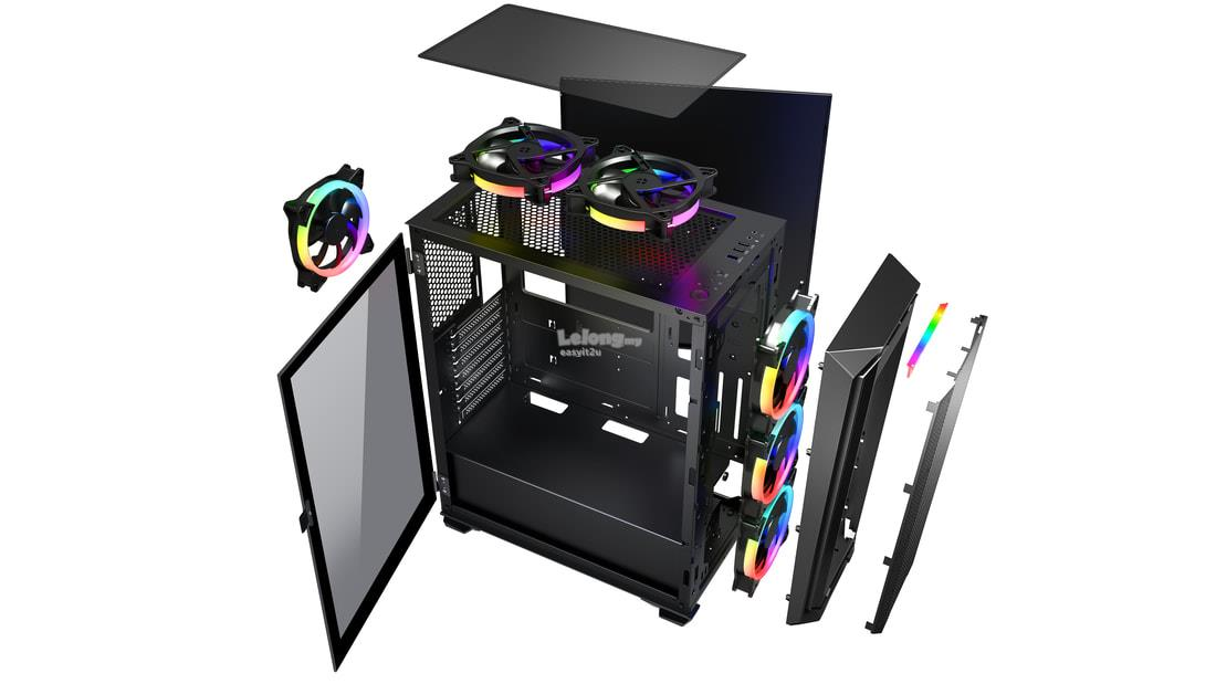 INVASION H-2 RGB TG ATX CHASSIS