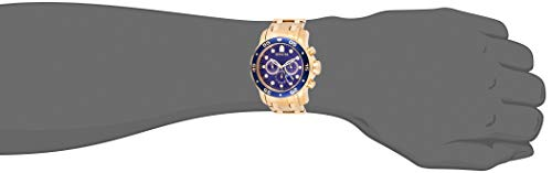 Invicta Men's 0073 Pro Diver Collection Chronograph 18k Gold-Plated Watch with