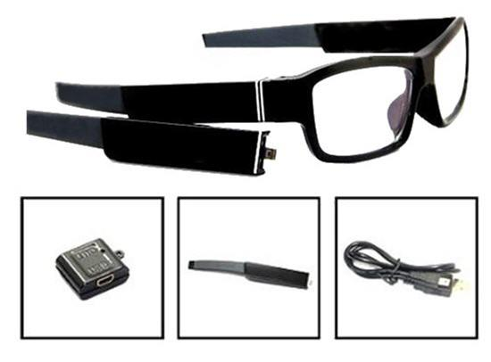 Invisible Lens Glasses Camera + Removable Battery (WSG-11B).