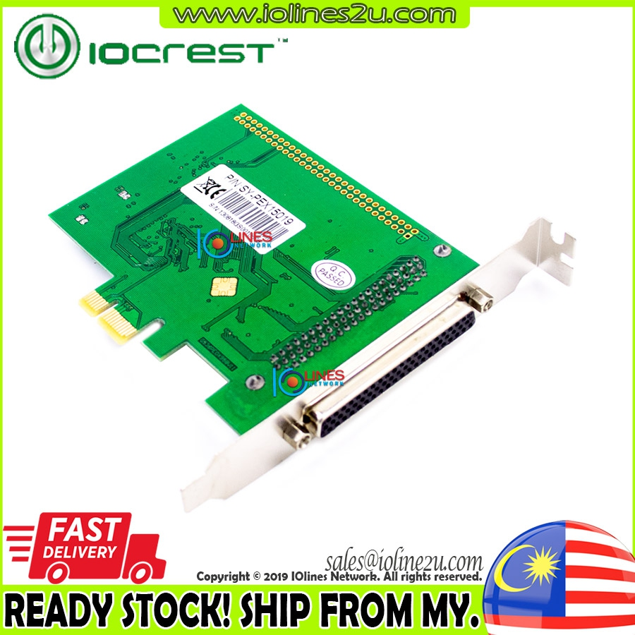 IOCrest Octa 8 port RS232 Serial DB9 PCIe card SY-PEX15019 8s Syba USA 8port O