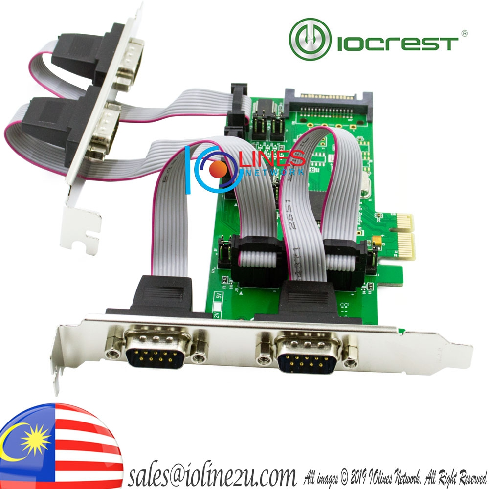 IOCrest/Syba USA 4 port Quad RS232 Serial DB9 PCIe card High Low Profile Brack