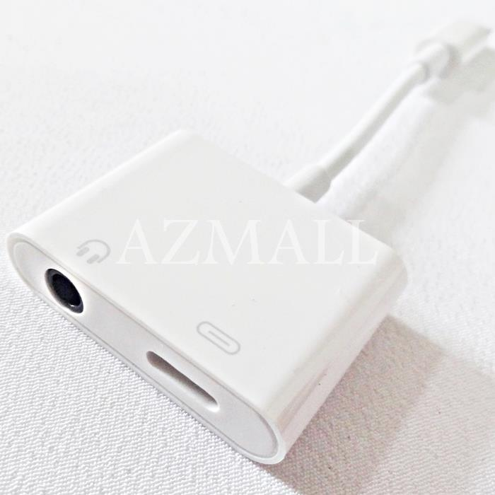 (iOS 12) Lightning to 3.5mm Headphone Jack+ Charge Adapter iPhone XS 8