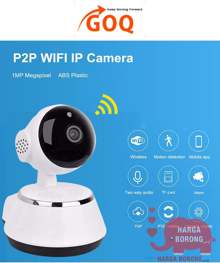 IP Security Camera 720P HD Wifi Cam CCTV Night Vision V380