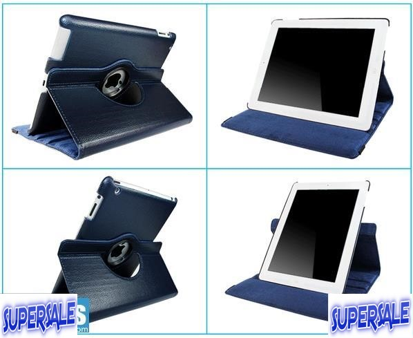 iPad 2/3/4 Rotatable Standing Color Case Casing Cover
