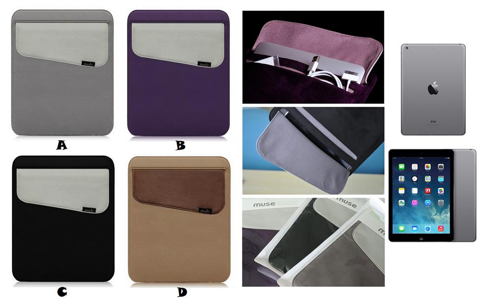 info for 602c9 ee536 iPad Air 1 2 3 MOSHI MUSE Microfiber Sleeve Bag Case Cover *FREE SP*