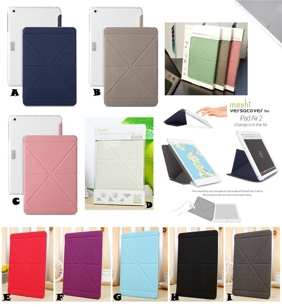 new product d9535 d7bb3 iPad Air 2 MOSHI SMART Tri Fold VersaCover Origami Case Cover *FREE SP