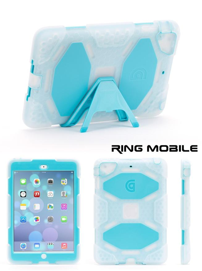 iPad Mini / Retina Griffin Survivor Protective Case - Blue + Clear