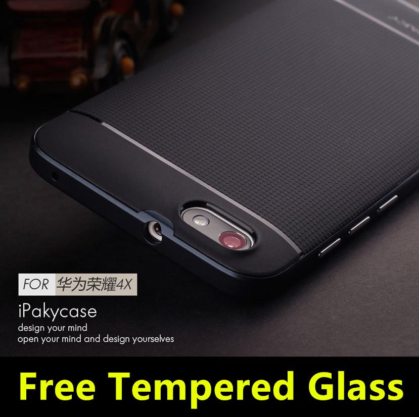 iPaky Huawei Honor 4X Neo Hybrid Case Cover Casing + Tempered Glass
