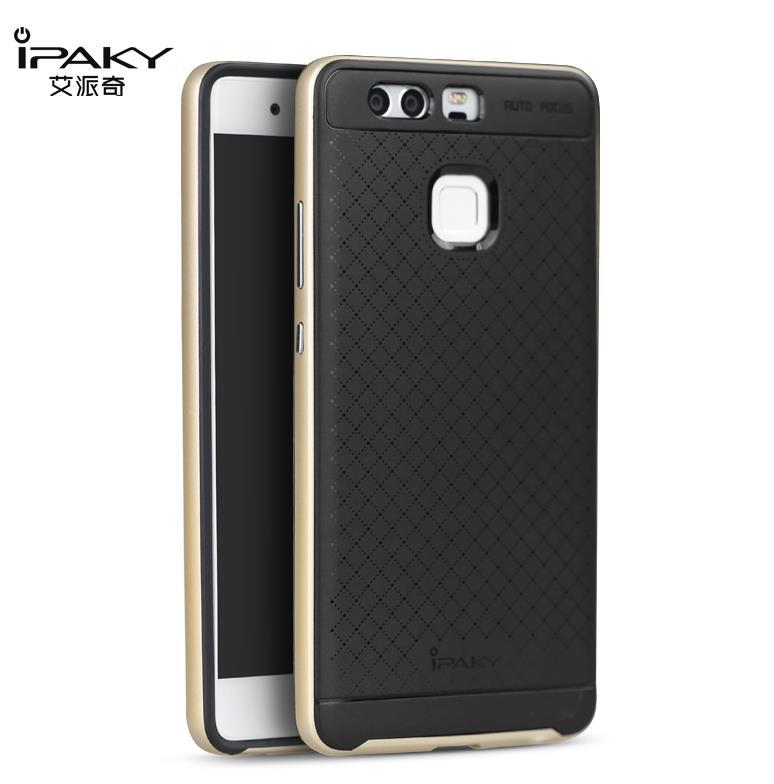 iPaky Huawei P9 Neo Hybrid Back Bumper Case Cover Casing + Free Gift