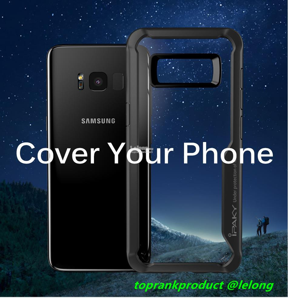 iPaky Samsung Galaxy S8 S8+ Plus Back Armor Case Cover Casing