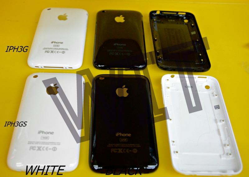iphone 3 3g 3gs Battery Back Cover Housing B/W Colour Sparepart