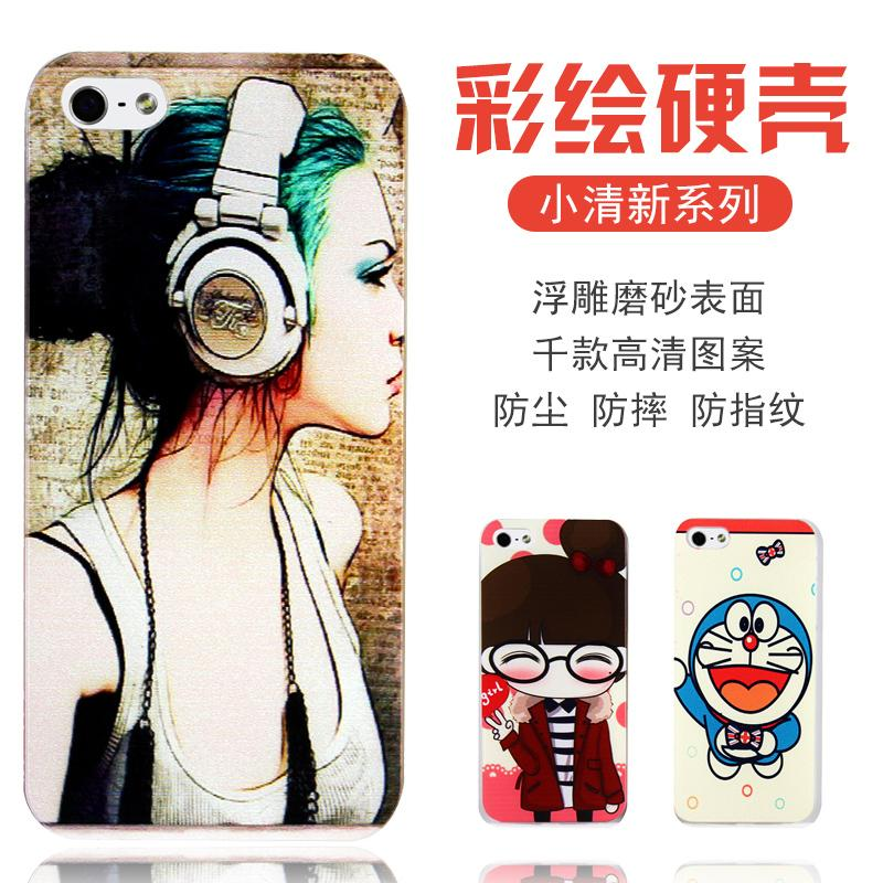 iPhone 4 4s 4g 5 5S 5G SE 6 6s 6g plus painted shell mobile phone case