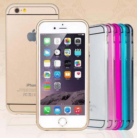 new product 0b25e 149ad Iphone 4 4S 5 5S 5SE 6 6S Plus Metal Bumper SLIM BACK Cover Case