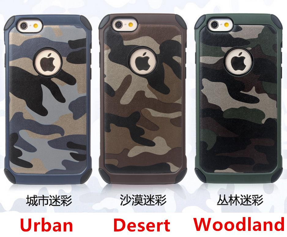 iPhone 4 4S 5 5S 6 /6 Plus Camouflage ShakeProof Case Cover Casing