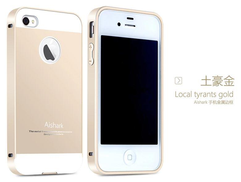 uk availability 62cdb d62e4 IPHONE 4 / 4S Aluminium Bumper Case Casing Cover