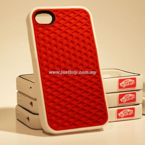 reputable site 035c8 ceab1 iPhone 4/4s Vans Waffle Sole Rubber Case - Red