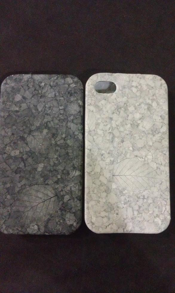IPHONE 4 GREY LEAF FLIP POUCH
