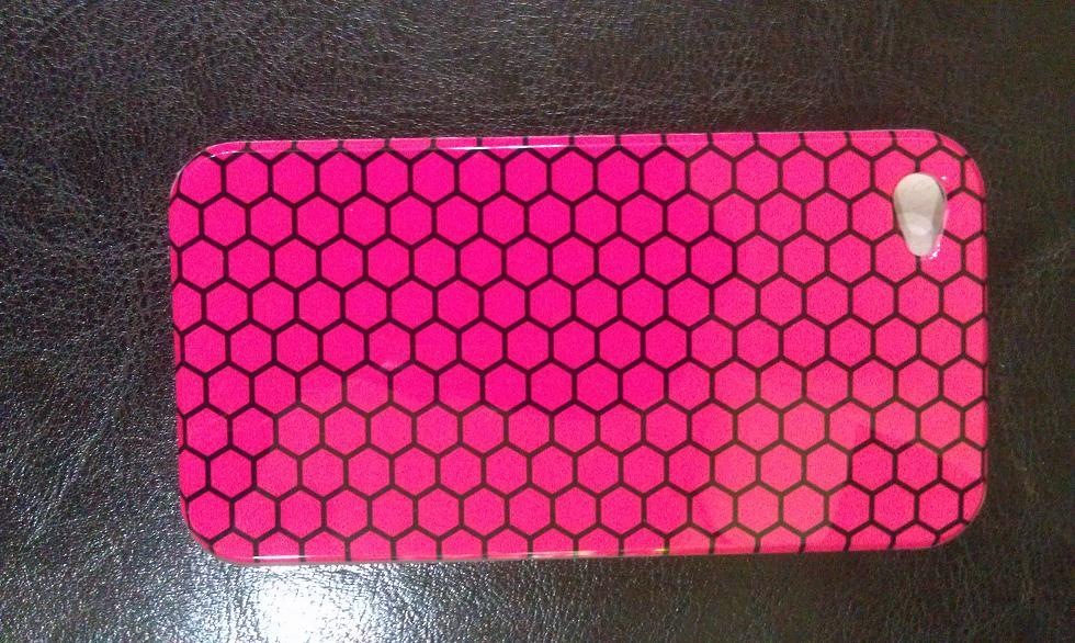 IPHONE 4 PINK CLUSTER HARD CASE