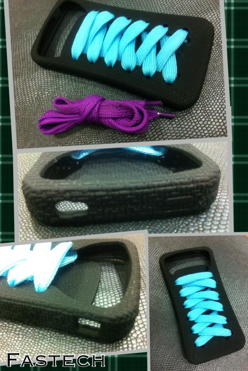 Iphone 4 SHOE & LACE Sillicon Casing.