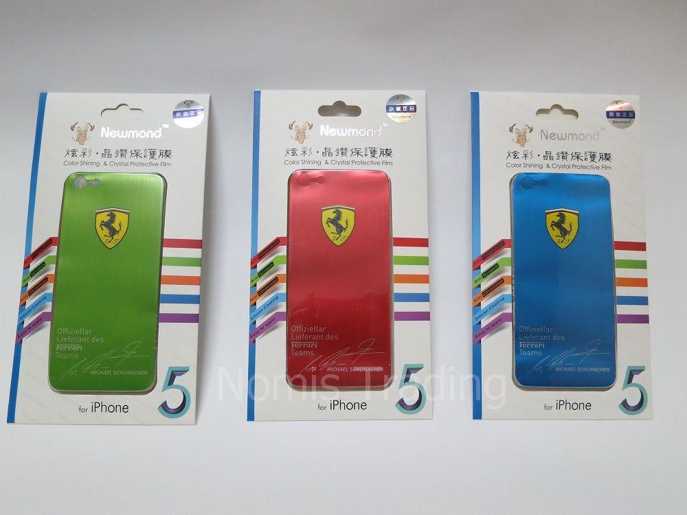 IPhone 5 5G Ferrari Color Shine Crystal Sticker Skin Protective Film