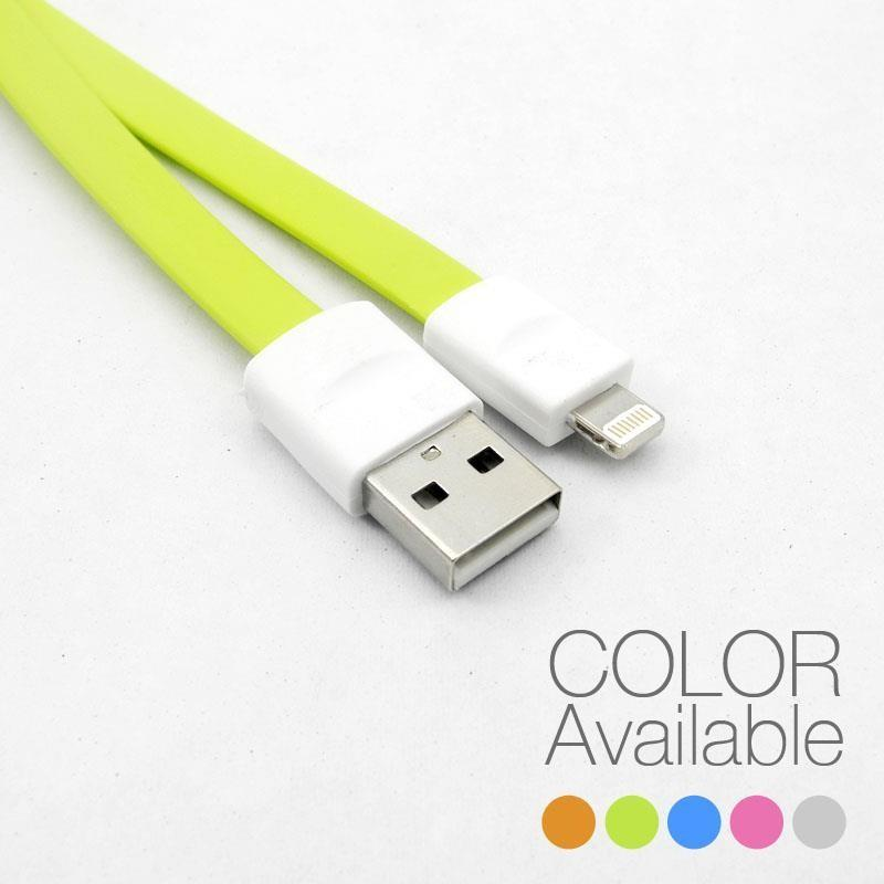 IPHONE 5/5S/5C/MINI/IPAD4/ FLAT DATA & CHARGER CABLE 1METER, CB1806