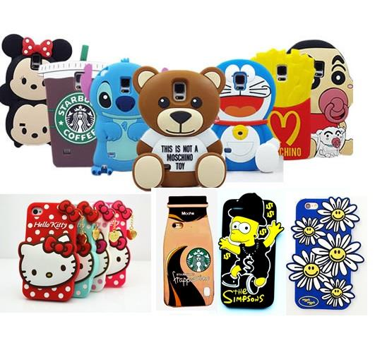 new style 343c8 2d47c iphone 5 5S 6 6+ 6S 6S+ 3D Cute Silicone case
