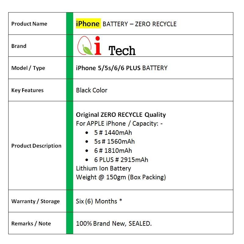 iPhone 5 5s 6 6P Battery Original Zero Recycle-Tools   3-Mth Warranty 070728d392
