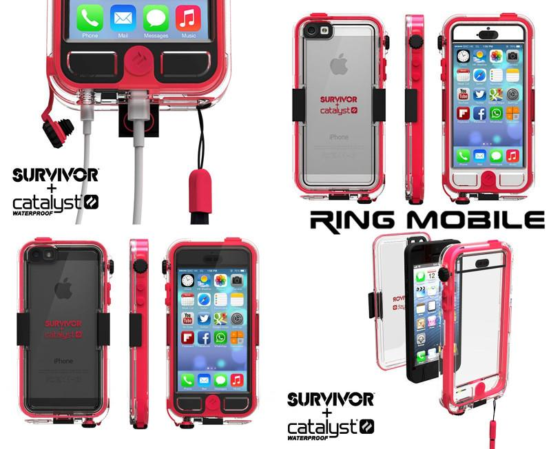 reputable site 94b9d edf64 iPhone 5 / 5S Griffin Survivor + Catalyst Waterproof Case - Pink =Ori