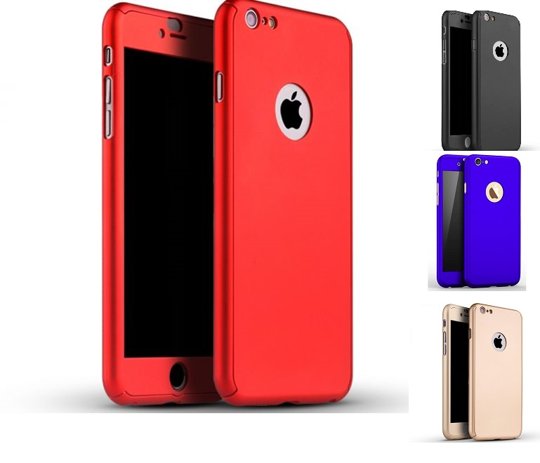 the latest ea241 06b4d IPHONE 5 5S SE 6 6+ 6S+ 7 7+ 360 DEGREE FULL BODY PROTECTION CASE +  TEMPERED G