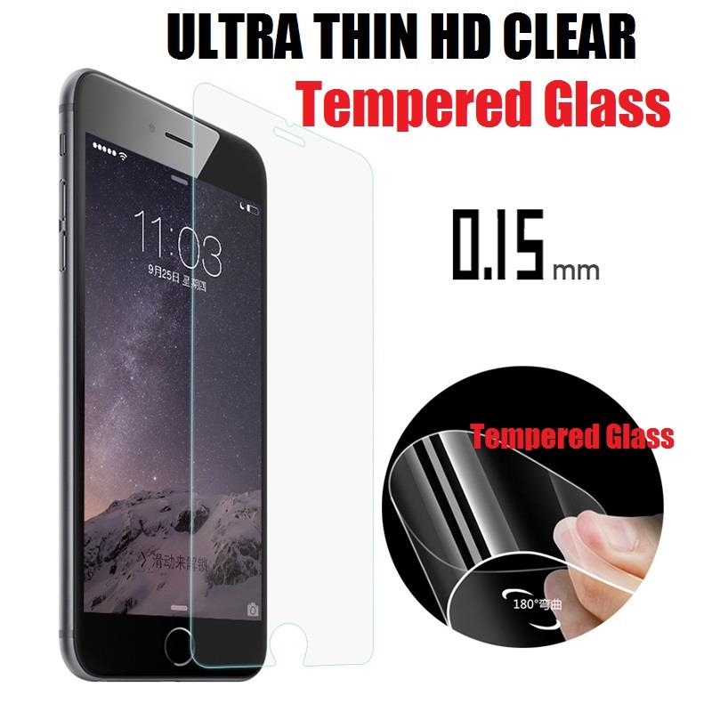 iPhone 5 5S SE 6 6S 7 8 Plus Ultra Thin HD Clear 0.15mm Tempered Glass