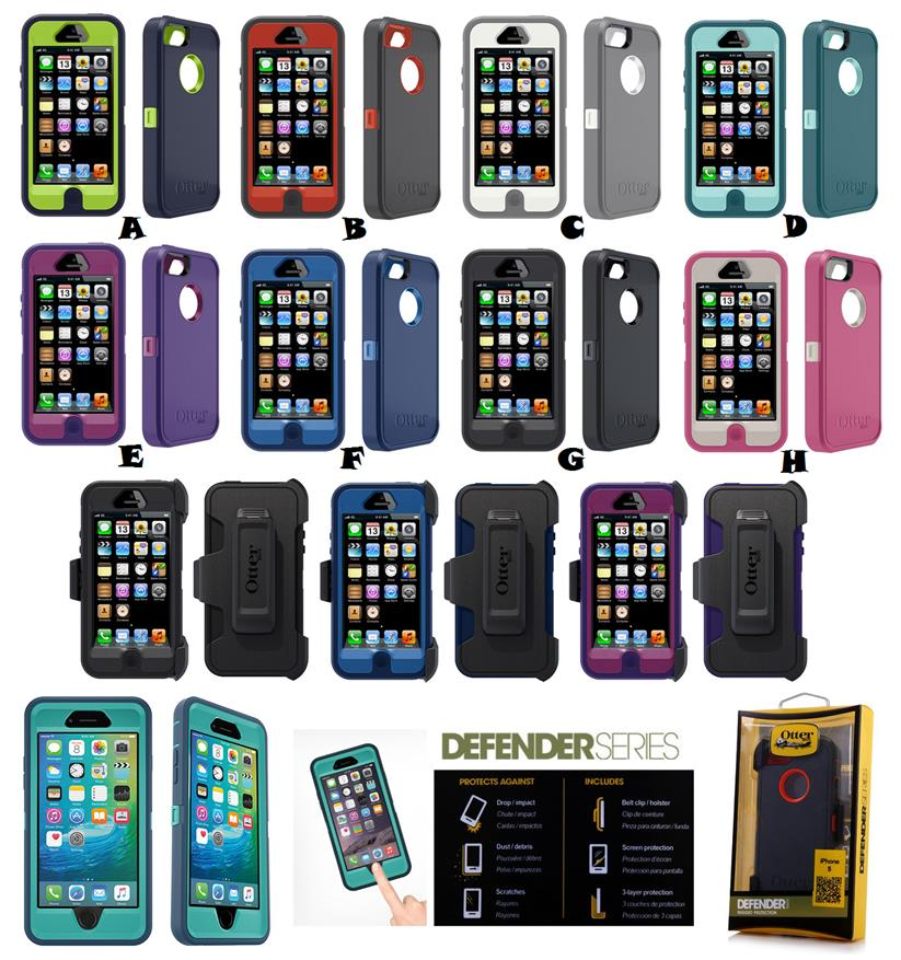 iPhone 5 5S SE 6 6S Plus TOUCH ID OTTERBOX DEFENDER SERIES Case Cover. ‹ › 0334b679b90f