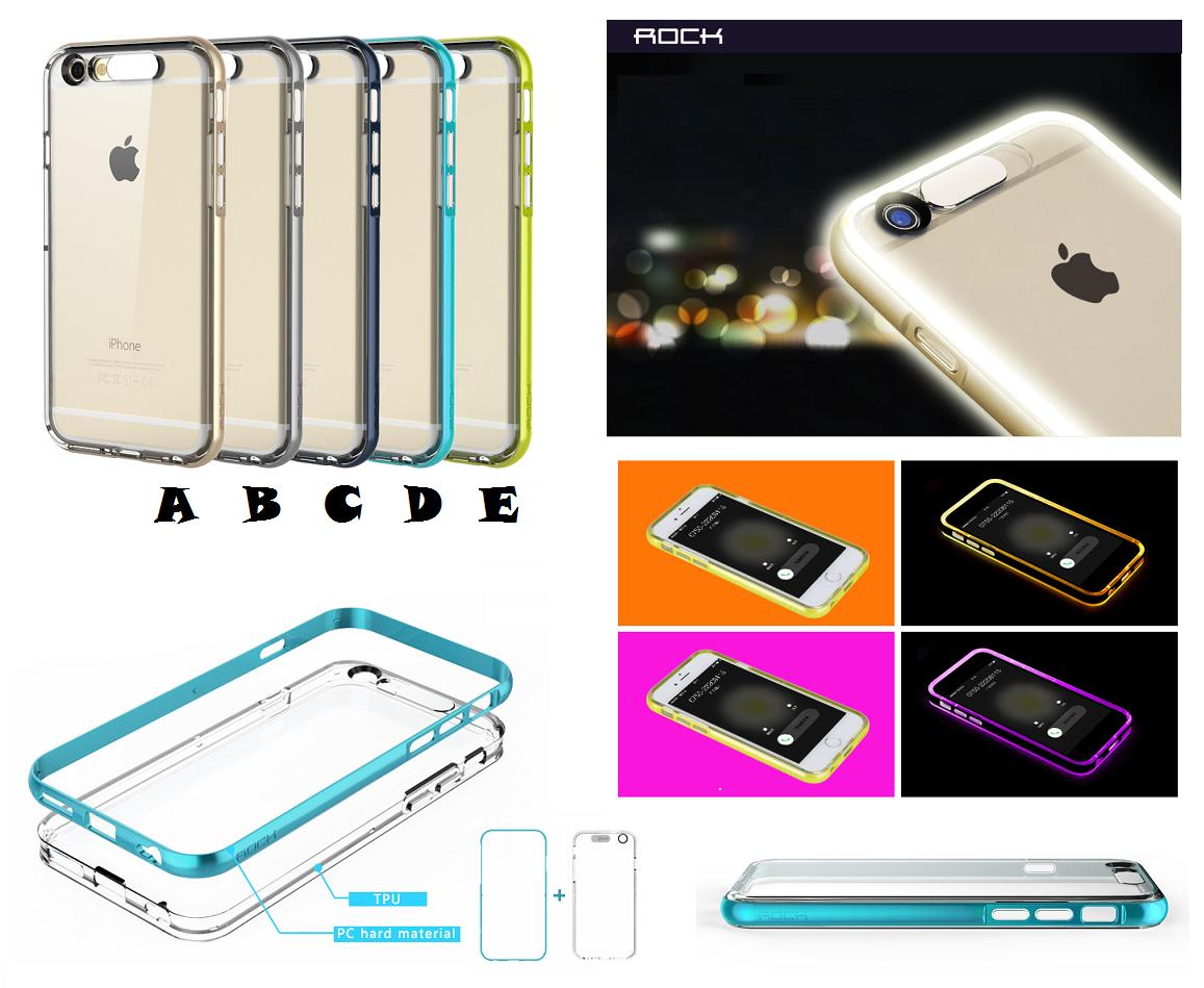 iPhone 5 5S SE iPhone 6 6S Plus ROCK Light Tube LED Cover Case  FREE. ‹ › 73be0fcec