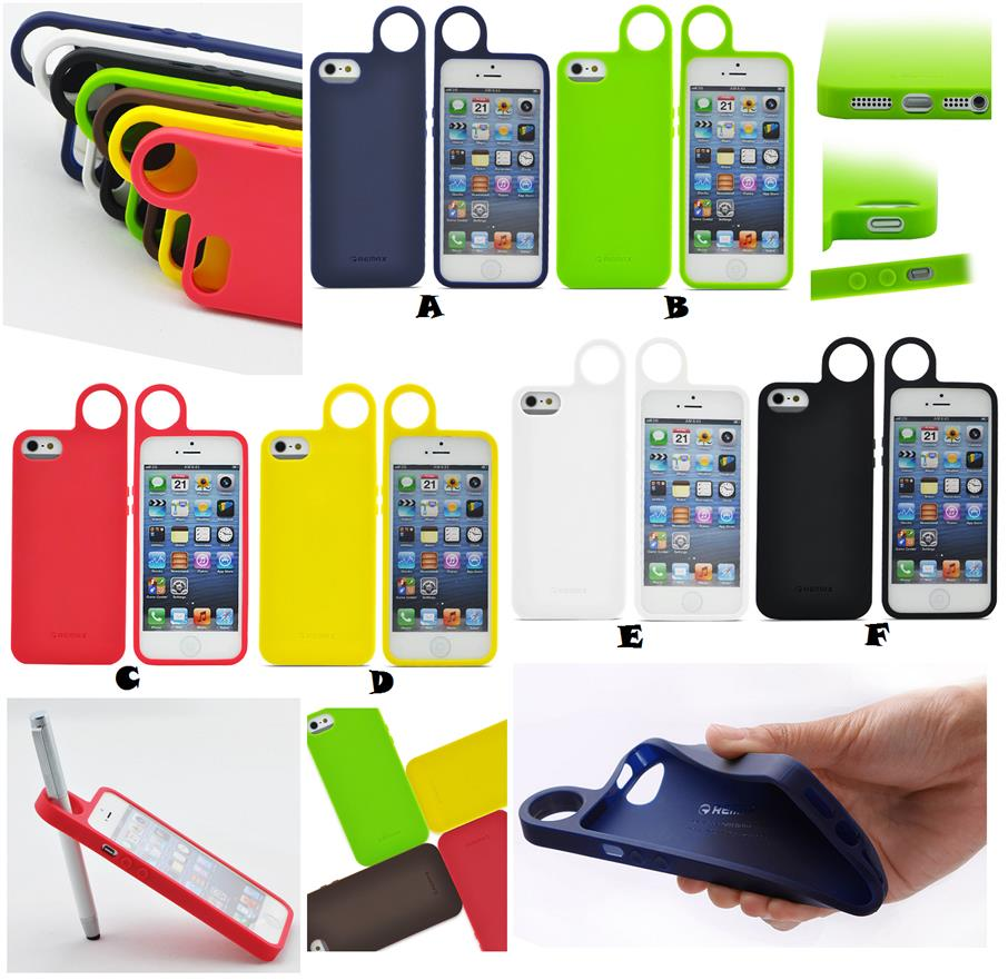 new products ef2cf cd3c9 iPhone 5 5S SE REMAX RING Hanger Rubber TPU Case Cover *FREE SP*