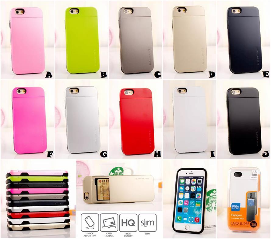 finest selection 46c46 0c0fd iPhone 5 5S SE SPIGEN SGP CARD SLIDER CS Slim Armor Case Cover *FREE