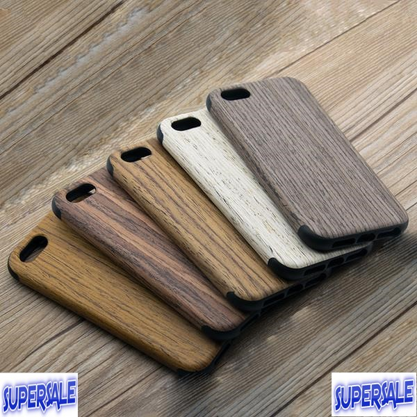 iPhone 5/5s/SE Wooden Frame Soft Silicone Case