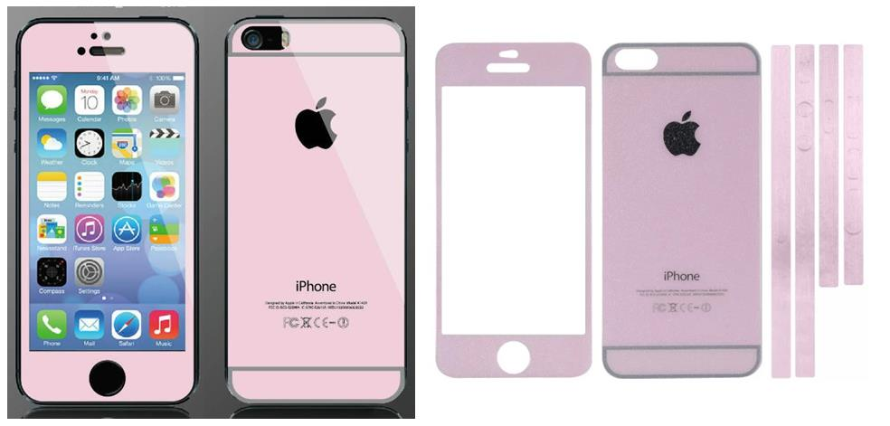 the best attitude 12a46 f0179 iPhone 5 5S to iPhone 6 PINK Diamond Tempered Glass Screen Protector