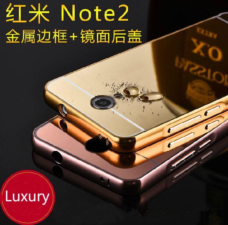timeless design 388ec b0fae Iphone 5 6S 6+ 7 7+ Redmi Note 3 4 Mirror Metal Bumper Case cover