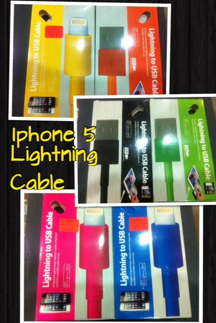 IPhone 5 Lightning Color Cable.