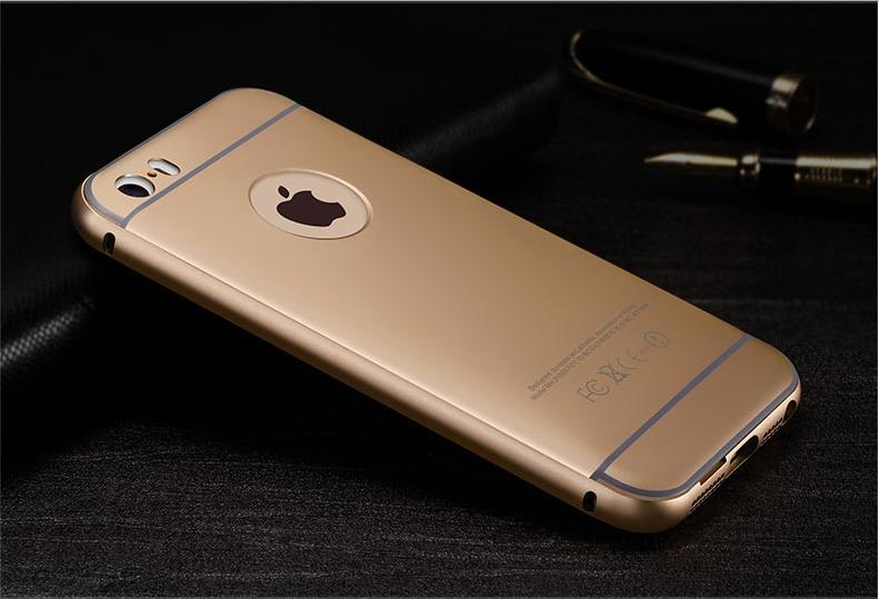iphone 5s gold case. iphone 5 luxury metal bumper + pc back cover case - gold iphone 5s