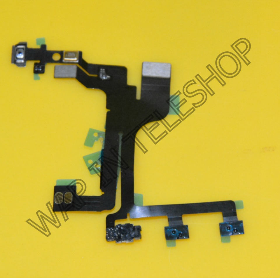 iphone 5C Power On/Off Button Lock Mute Volume Flex Cable Ribbon
