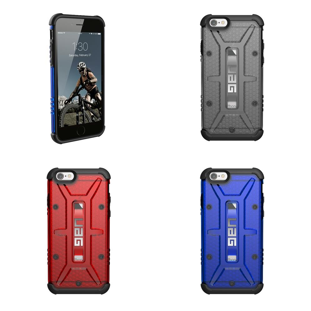 official photos 0f5b1 fd220 Iphone 5s 5 6 6s plus Ash Red UAG Urban armour gear Transparent case