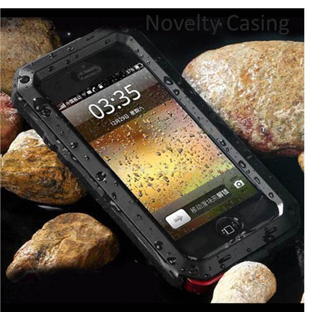 iphone 5S SE 6 7 PLUS S6 S7 S8 Edge Note 3 4 5 Metal Waterproof case