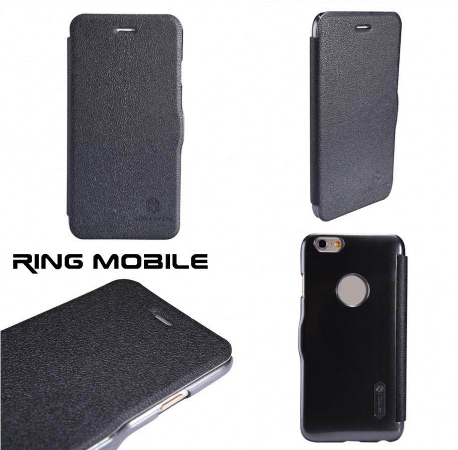 iPhone 6 4.7' Nillkin Fresh Series Leather Case - Black - rmtlee