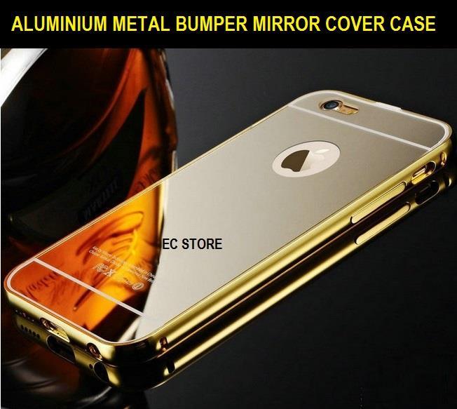 buy popular c15a0 0570f iPhone 6 6 6s Plus Ultra Thin Aluminium Metal Bumper Mirror Case