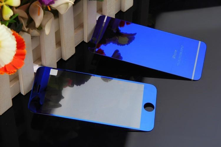 Iphone 6 Color Mirror Tempered Glass Screen Protector Front Back