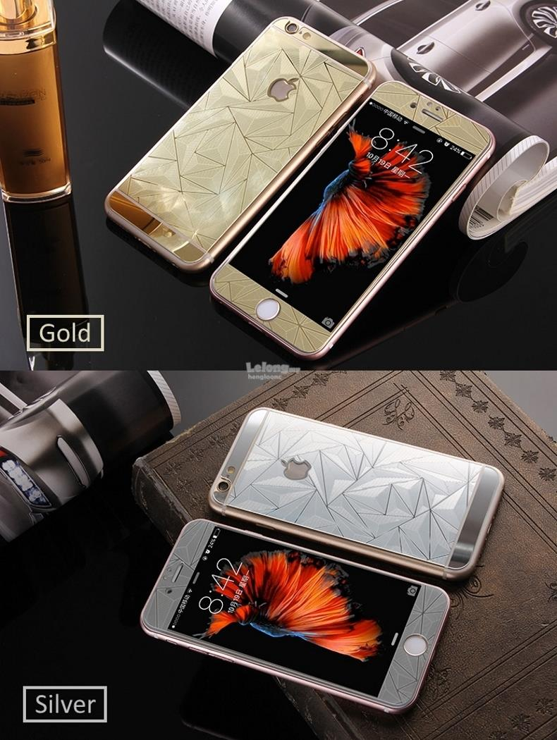iPhone 6/ 6s 3D Diamond Tempered Glass Front + Back Screen Protector