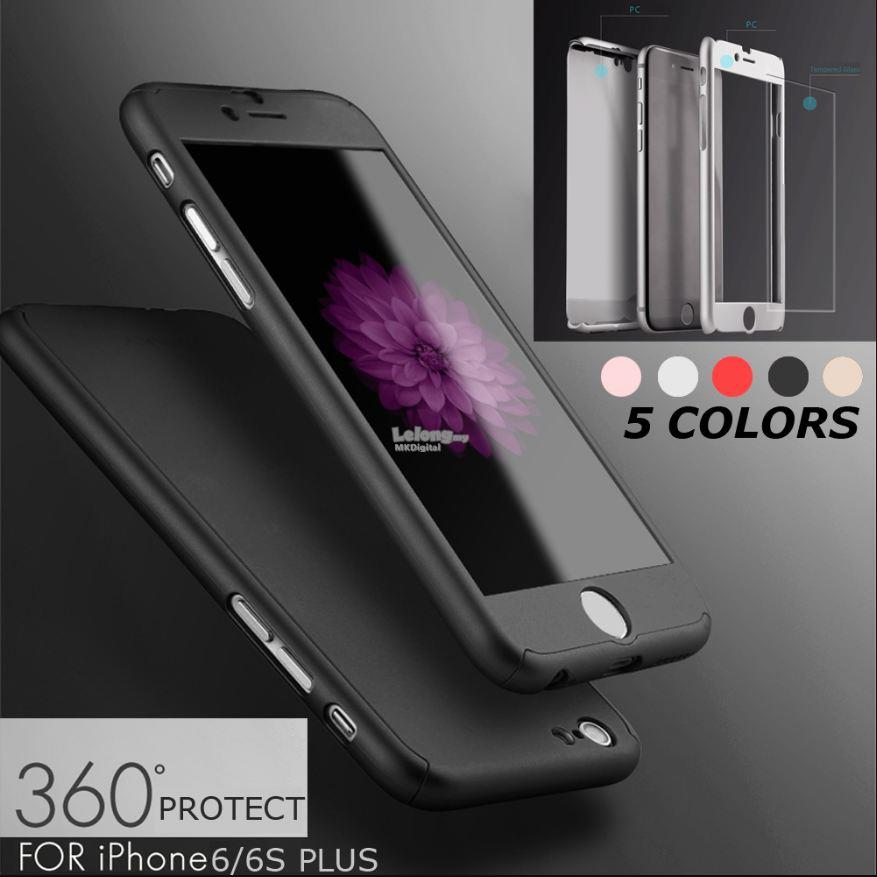 more photos 11556 e8513 iPhone 6 6s/6Plus 6s Plus, iPaky Slim 360 Full Cover +Screen Protector