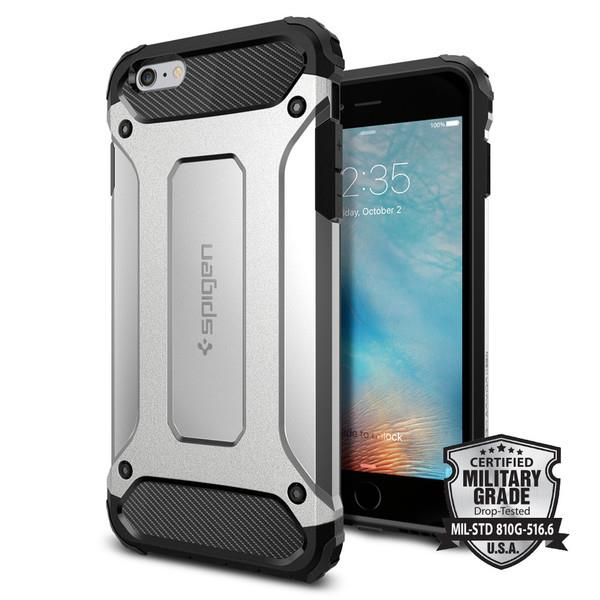 iPhone 6/6s Case, Spigen Tough Armor Tech - Satin Silver