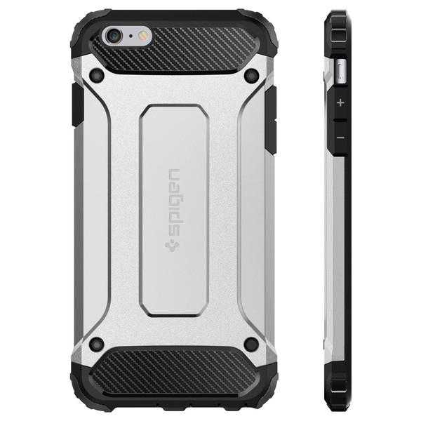 official photos eab59 98051 iPhone 6/6s Case, Spigen Tough Armor Tech - Satin Silver