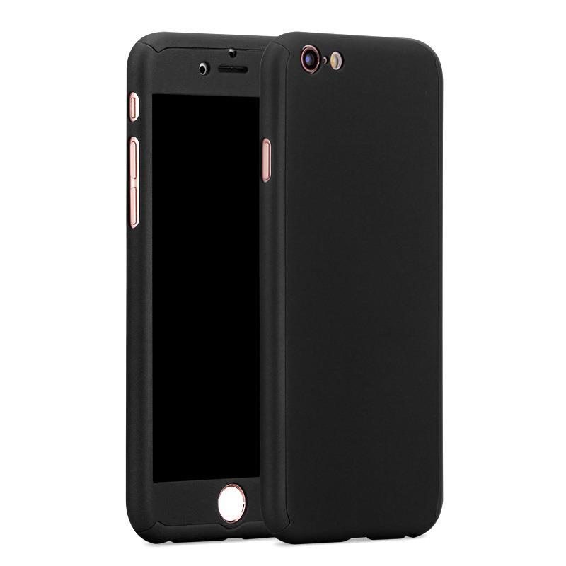 uk availability 9946e 249e8 iPhone 6/6S Full Cover Case 360 Degree Protection (Black)